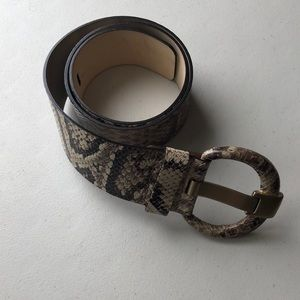 Snake Print Genuine Leather Banana Republic Belt
